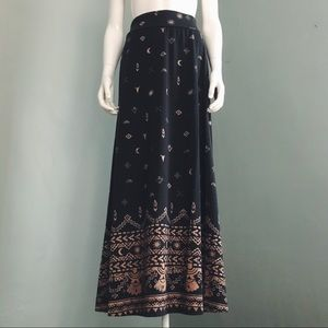 Southwest Printed Maxi Skirt